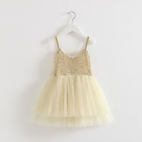 Fashion Unique Design Strap Dress Good Quality Factory Price 3 Year Old Girl Dress