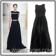 2015 Hot Sale Black Party Formal Evening Dress Floor Length Long Prom Dress