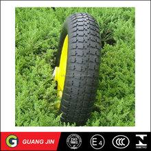 Top quality small pneumatic trolley rubber tyre wheelbarrow wheel 3.00-4