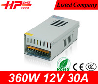 Better than shenzhen constant voltage single output CCTV camera 12v 30a high power led driver 360w