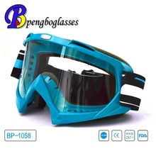 Flexible anti impact racing motorcycle goggles