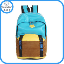 fashion shoulder school bag,cheap backpack,canvas leather backpack