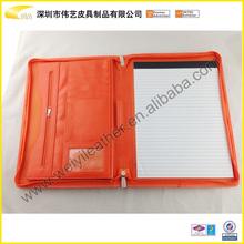 Superior Quality Leather Zipper Portfolio In PU Leather Document File A4 Portfolio