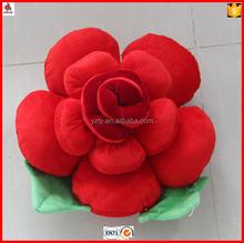 China wholesale stuffed rose flower decorative pillow 40cm