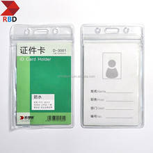 Office Supplies RBD stationery D4007 0.4mm PVC Soft Clear ID Badge Holder