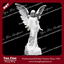 Outdoor Decorative Garden White Marble Angel Statues