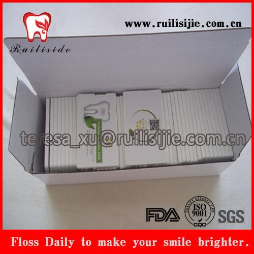 Hortelã fresca e encerado cartão Dental fio dentário eléctrico com aprovação do FDA