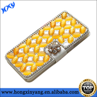 Bling Leather Wallet Cover Case For iPhone 6