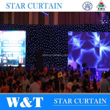 W&T highlight led stage curtain with high quality