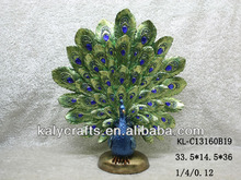 Home Decoration Polyresin Peacock Design for Gifts