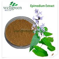 natural epimedium brevicornum extract/food grade epimedium extract/epimedium plant extract powder