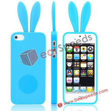 For iPhone 4 Silicone Skins! Cute Rabbit Bunny Silicone Skins For iPhone 4S/4(Blue)