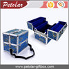 Durable exquisite aluminum cosmetic case with brace
