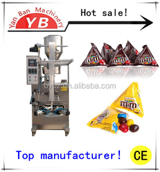 Manufacture High Efficiency YB-150S Automatic rice crust/cashew nuts Triangle Bag Packing Machine for 5-50g