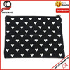 18.5x15cm white heart style canvas cosmetic makeup bag pouch