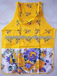 new design printing custom yellow garden apron for women in home&garden