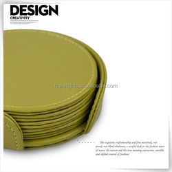 Last day promotion leather ab coaster for living room