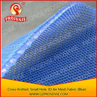 Prosense Cross-Knitted Small Hole 3D Air Mesh Blue Simplex Fabric with White Stars Dots