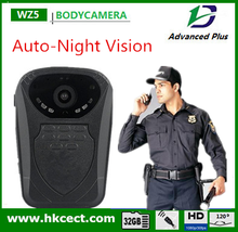 Only 105g body worn camera uto-night vision with Turkish Russian English Menu police body camera mini wearable camera