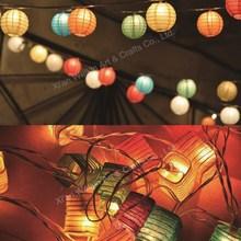 Mini paper lantern string light