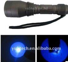 high power 365nm UV LED Flashlight for Crack check /minal detect/ crime scene