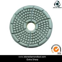 4'' DMY-21 Fan Shape Resin Bond Floor Polishing Pads Diamond Concrete Tools for Marble/Granite/Concrete