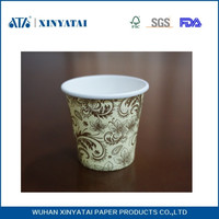 6oz biodegradable wholesale single wall coffee and tea paper cup with lids can be provided