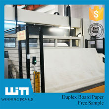 New Product One Side White Coated Paper Grey Back Duplex Card Board