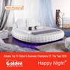 CIFF Leather ROUND BED with Lamp have a look