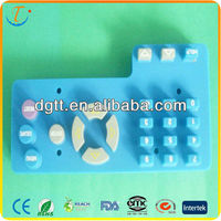 Electric silicone keypad for home appliance