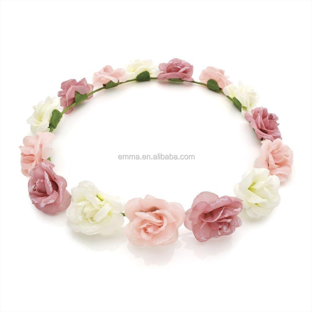 Hot Sale Fabric Flower Headband For Girls Latest Nice Headband Crown