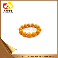 Varied size ball bead cabochon smooth gemstone natural baltic amber made in Wuzhou