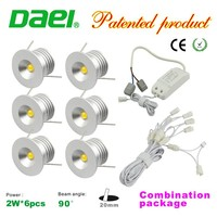 2015 new design hot product IP42 2W*6pcs mini led spotlight dimming combination package