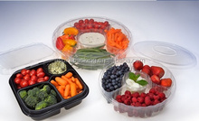 Hot sale plastic clamshell food container 5 compartments/clamshell blister packaging/que es blister pack