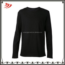 2015 popular black extra long t-shirt for men