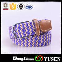 Custom Factory Jeans Braided Fashion Woven Elastic Belt