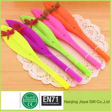 Cheap Promotion Feather Design Silicone Ballpoint Pen