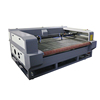 Home fabric laser cut machine, fabric cutter with auto feeding work table double heads