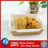 kraft paper salad box with clear lid