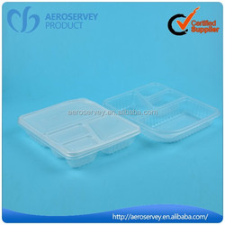 Hot sale disposable customized simple airline product new design plastic food container box