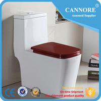 European Style Bathroom Toilet With Color Seat Cover