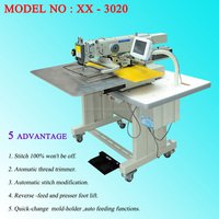 model of XX - 3020 computerized programmable sewing machine same quality with Gremany standard used in industry manufactory