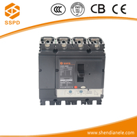 China suppliers approved solar system intelligent Moulded Case circuit breaker 4p 250a thermal magnetic mccb
