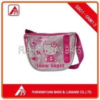Lovely handbag with PVC front panel