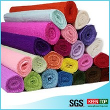 SGS appproved color crepe paper / crepe paper streamer/flower wrapping crepe paper
