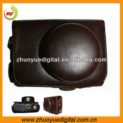 Compact Camera Pouch,Manfacturer Professional Leather Digital Camera Case/Bag/Cover for Panasonic Lumix DMC-GF3