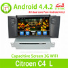 Cortex A9 Quad core 1GHz Mstar786 New Android 4.4 Car Radio DVD For Citroen C4 L