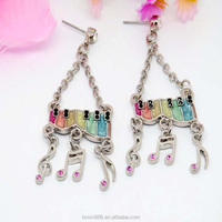 Manufacturer wholesale silver earring jewelry fashion alloy drop earring for girls #2792