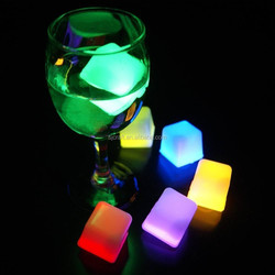 New cooling water activated led lighting ice cubes with customized logo for party Bar ornaments SJIC-005