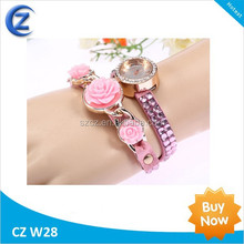 Fashion high quality Cow Leather Strap Casual Vintage 2014 women's knitted leather butterfly watches women Dress Watches
